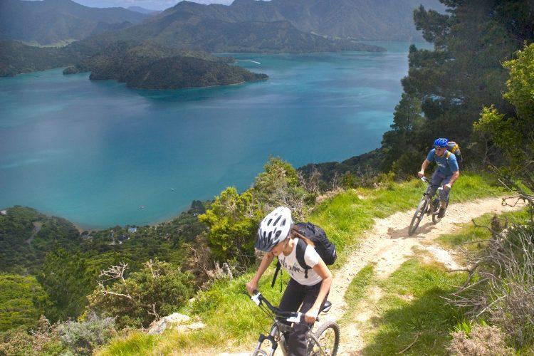 Riding Queen Charlotte Track Marlborough Sounds NZ