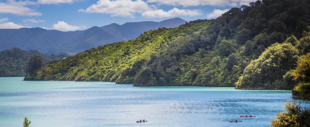Paddling in Kenepuru Sound Marlborough Sounds